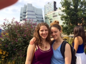 At the Highline; our parents were there too but they are afraid of the interwebs.