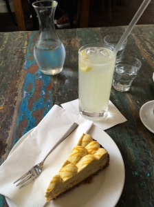 Mango-lime cheesecake and sage lemonade