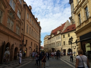 Streets leading into Old Town Square.
