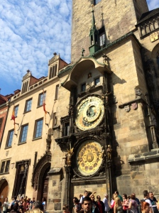 Prague's Astronomical Clock (there's also a beautiful one in Olomouc that wins out for me)