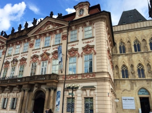A gorgeous Baroque building near Old Town Square