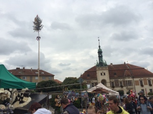 Maypole and the town hall.