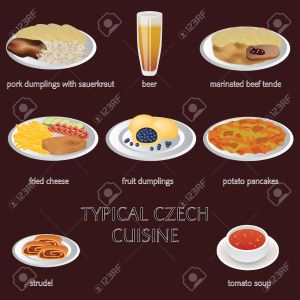 typical czech cuisine - few typical czech food